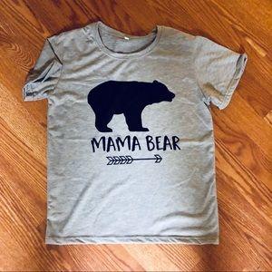 GRAY | BLACK | MAMA BEAR TEE | 🖤🐻